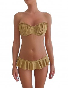Bikini sabbia fascia push up balconcino con volant slip o brasiliana
