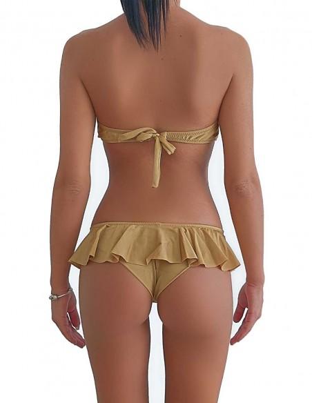 Retro del bikini sabbia fascia push up balconcino con brasiliana volant Ibiza