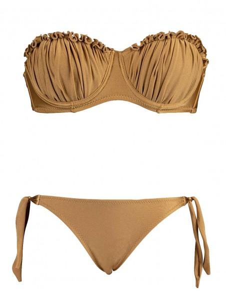 Bikini fascia conchiglia Greta con slip fiocchi Venere