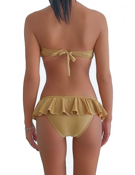 Retro del bikini sabbia fascia push up balconcino con slip volant Capri