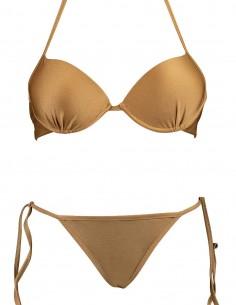 Bikini maxi push up Malibù con brasiliana lacci Atene