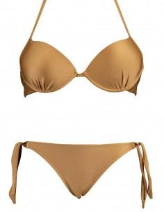 Bikini maxi push up Malibù con slip lacci Venere