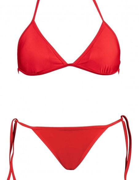 Bikini triangolo Elsa con brasiliana lacci Atene rosso