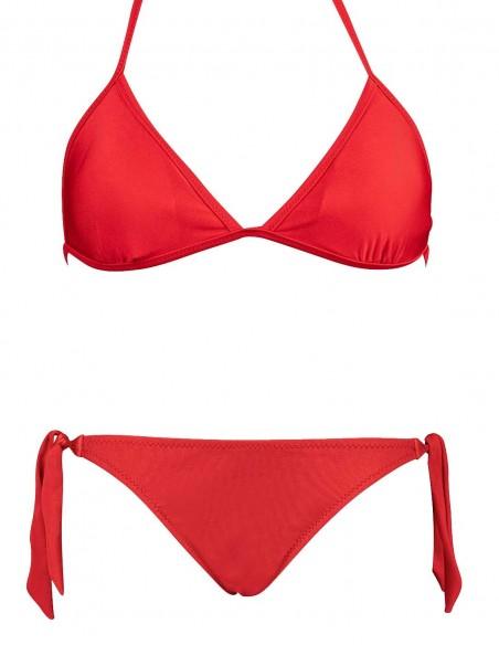 Bikini triangolo Elsa con slip con lacci Venere rosso